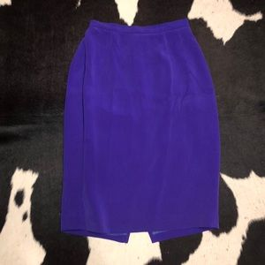 Maggy London purple silk skirt, size 4